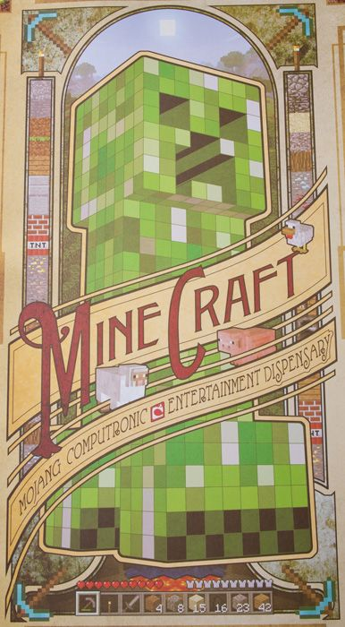 Spice up your house by adding a dash of creeper a room. Minecraft Computronic Poster now available from J!NX