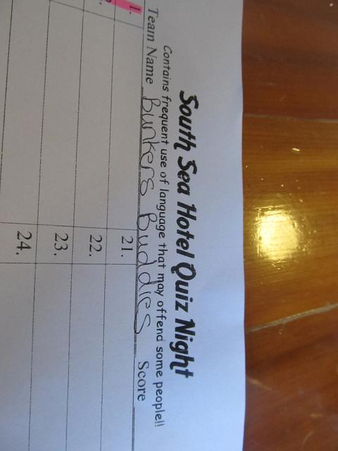 nz stewart island hostel quiz team - 3rd place by SA Trekker, via Flickr