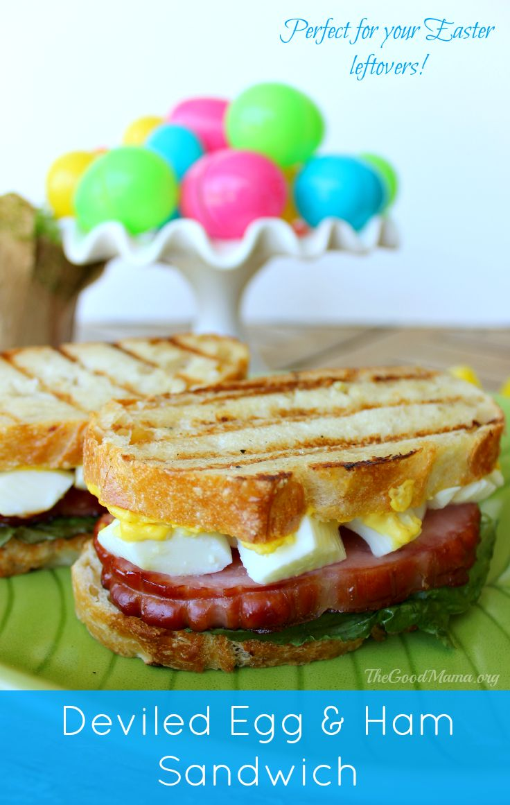 Deviled Eggs and Ham Sandwich Recipe  The Ultimate Pinterest Party, Week 44