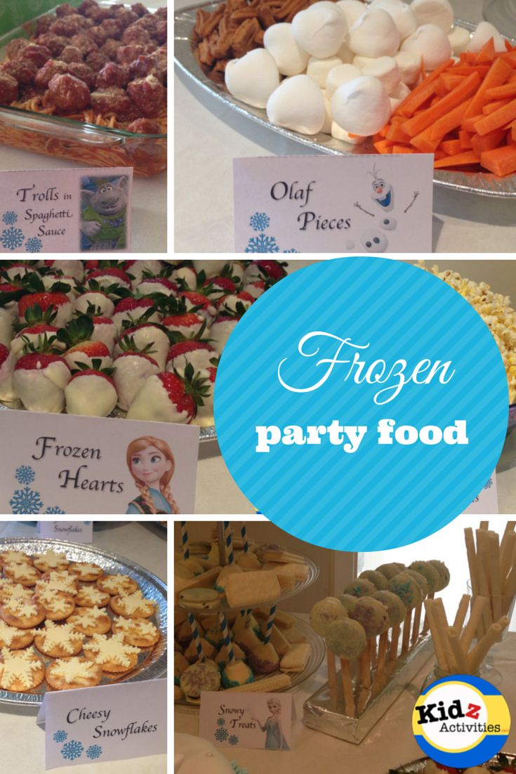 Frozen Themed Party Food Free Printable Frozen Food Labels