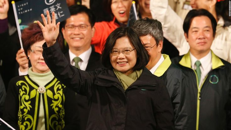 Tsai Ing-wen, opposition leader of the Democratic Progressive Party (DPP), won the presidency. Taiwan has elected its first female president.  #Taiwanpresident #presidentialelection