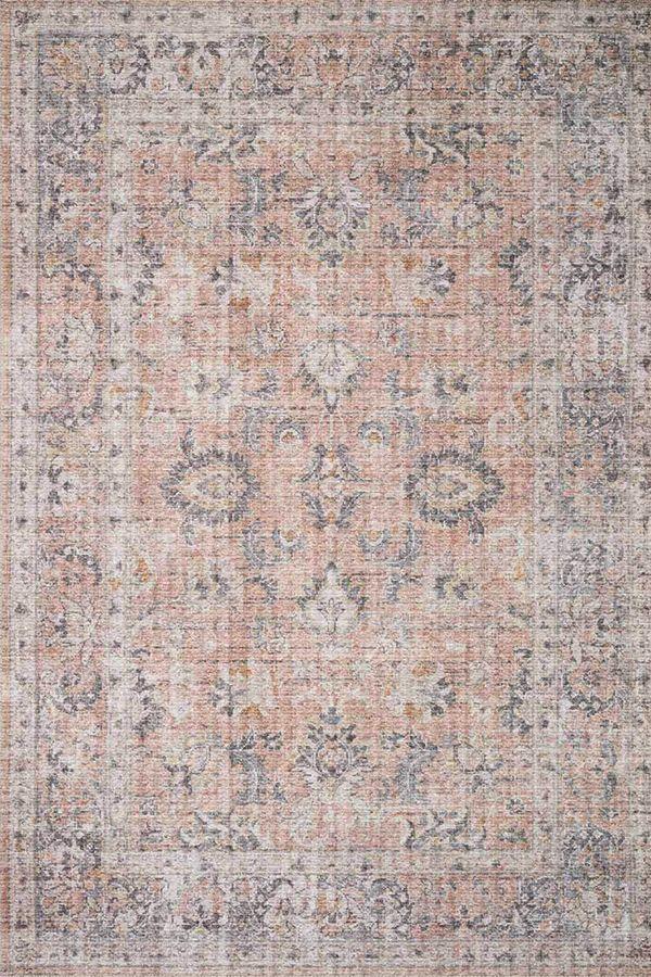 Loloi Ii Skye Sky 01 Blush Grey Area Rug In 2020 Blush And Grey Grey Area Rug Pink And Grey Room