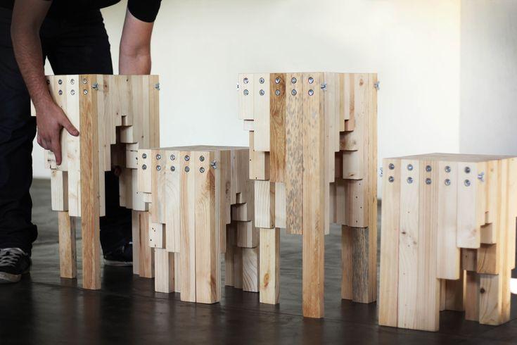 © Jones Monteiro© Jones Monteiro© Jones Monteiro© Jones Monteiro Fibo é uma linha de móveis em ripas de madeira. Fabricado com Pinhos Reflorestados...