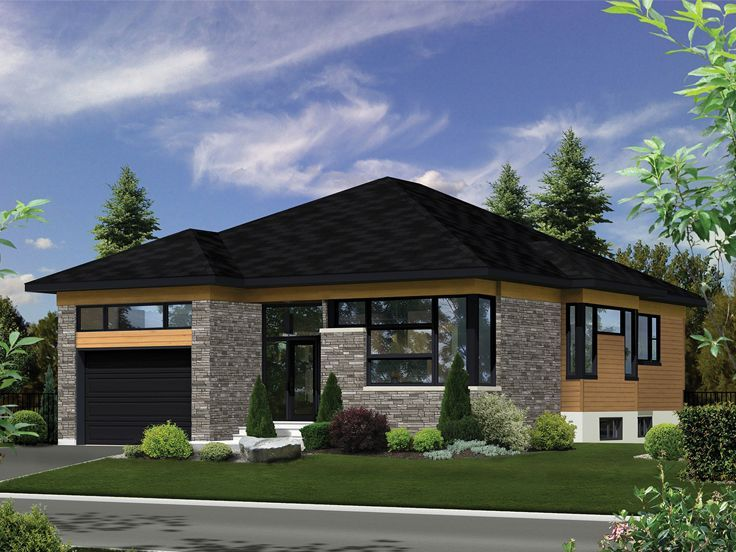 072h 0249 Modern House Plan Fits A Narrow Lot 1414 Sf In 2020