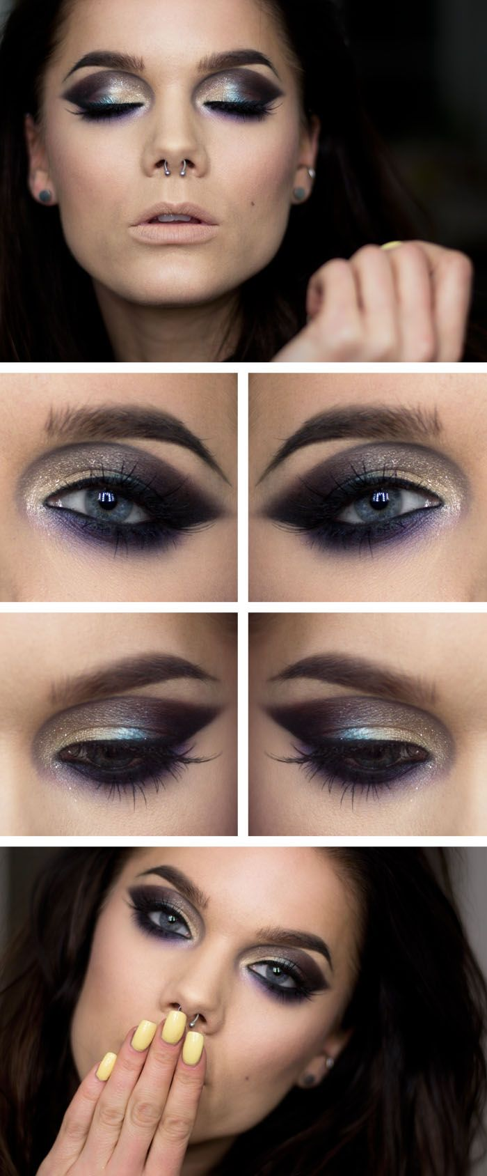 Follow through ♥ Linda Hallberg - incredible makeup artist. Very inspiring -- from her daily makeup blog. | Inspiration for upcoming projects by Adagio Images at www.adagio-images.com/modeling or www.facebook.com/adagioimages | #makeup #makeupinspiration ♥