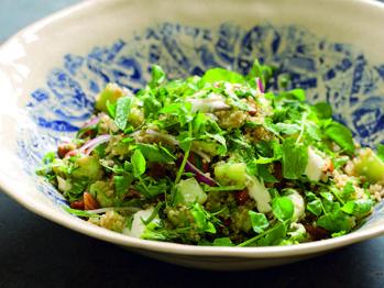 Roasted Cucumber, Quinoa, Freekah & Herbs