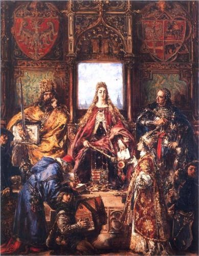 The Marriage of Jadwiga and Jagiello - Jan Matejko