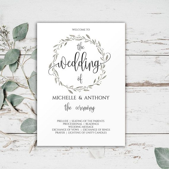 Wedding Ceremony Program Templates, Wedding #weddings #invitation @EtsyMktgTool http://etsy.me/2z9Aq4P #orderofceremony #weddingceremony
