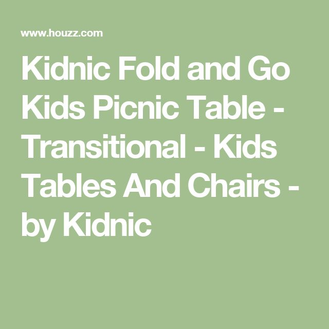 Kidnic Fold and Go Kids Picnic Table - Transitional - Kids Tables And Chairs - by Kidnic