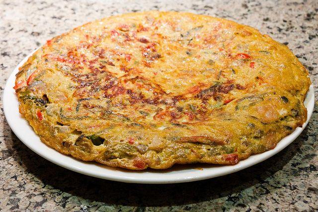 telur sayur panggang