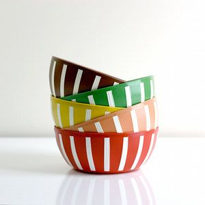 Mid-Century Striped Deka Bowls, $52, now featured on Fab.