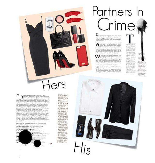 """Partners In Crime"" by ordinary-fashion on Polyvore featuring Post-It, Christian Louboutin, Dolce&Gabbana, Brooks Brothers, Smashbox, MAC Cosmetics, ETON, Armani Collezioni, Prada ve Balmain"