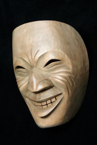"Tobacco Ceremony Mask (Seneca) - Joe David - 7""x5""x3"" - alder"