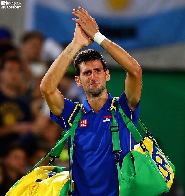Heartbreak for @Djokernole who lost to Del Potro in the Men's Tennis Singles…