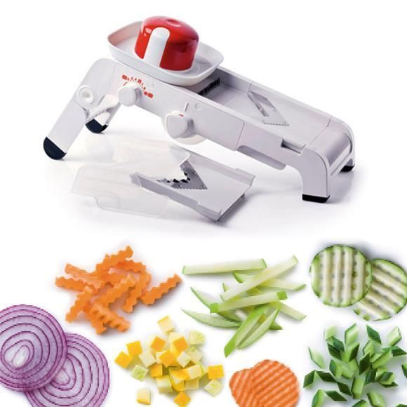 TUPPERWARE MandoChef Mandoline Slice Chop Dice Grate SPECIAL OFFER see movie
