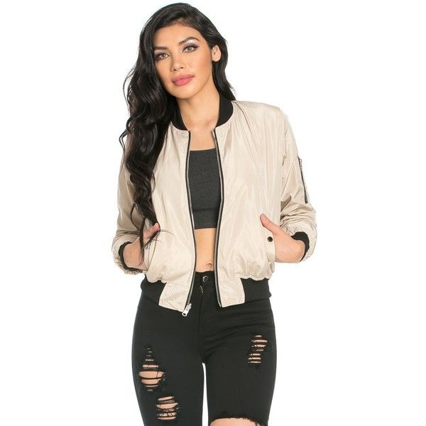 Reversible Solid Camouflage Bomber Jacket in Beige ($35) ❤ liked on Polyvore featuring outerwear, jackets, pink camo jacket, beige jacket, flight jacket, camo bomber jacket and zip front jacket