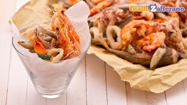 Fritto misto di pesce - The recipe is in Italian...