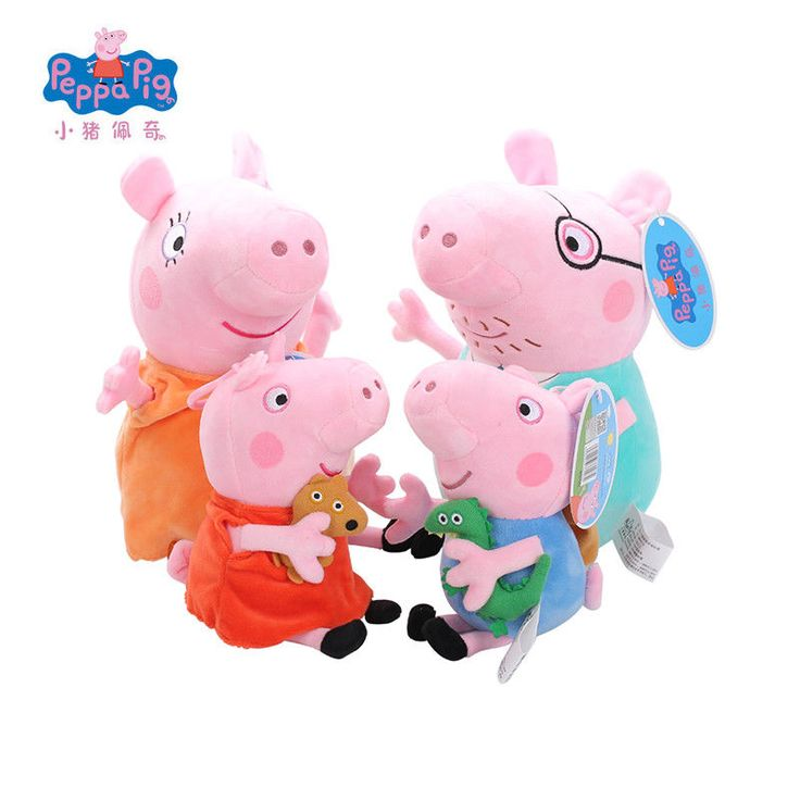 Original Brand Peppa Pig Stuffed Plush Toys 19/30cm Peppa George Pig Family Doll #PeppaPig
