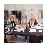 Having lunch with two lovely girls in the Y.A.S showroom / #yasapparel @ yasapparel on Instagram