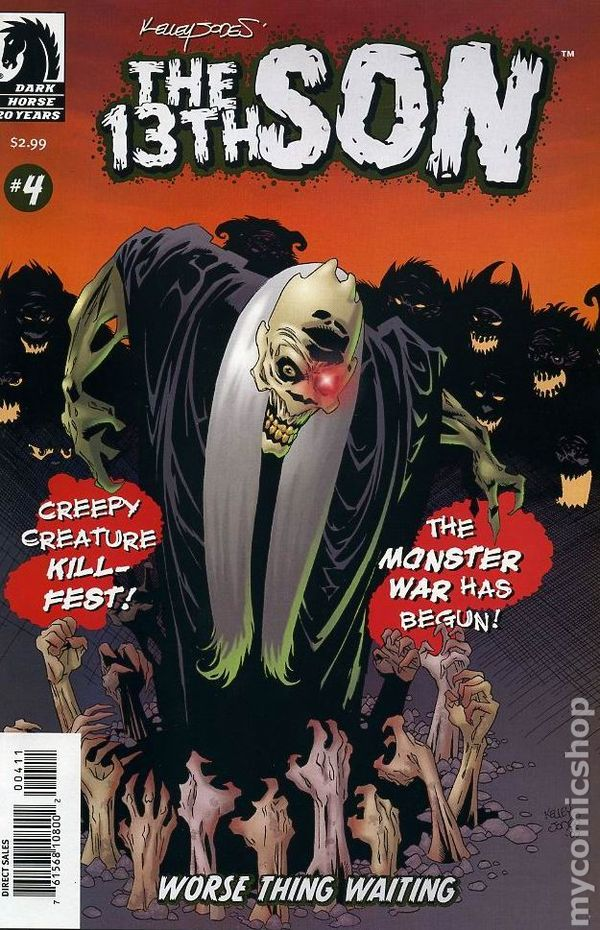 13th Son Worse Thing Waiting (2005) 4 Dark Horse Comic Book cover Modern Age