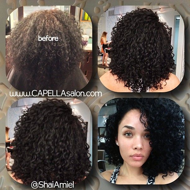 Kreesha Turner visit with Shai Amiel haircut, color, shine gloss & styling www.CAPELLAsalon.com #DevaCurl #DevaCut
