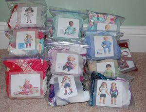 @Lynnette Reynolds  This is how you should have Sydney organize all her American Girl clothes!