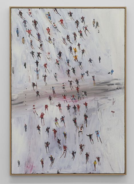 Anna Bjerger, Race (2016), Oil on Aliminium,