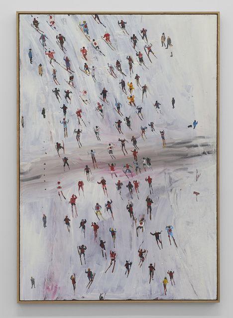Anna Bjerger, Race (2016), Oil on Aliminium,
