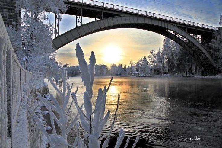 Tammikuun pakkasia Heinolassa.