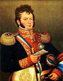 Bernardo O'Higgins, nacido en Chillán (Chile) el 20 de agosto de 1778, fue un político chileno, considerado como el Padre de la Patria en Chile y figura fundamental de la independencia de su país y de Latinoamérica.    Fue uno de los principales organizadores de la Expedición Libertadora del Perú, liderado por el General Don José de San Martín.