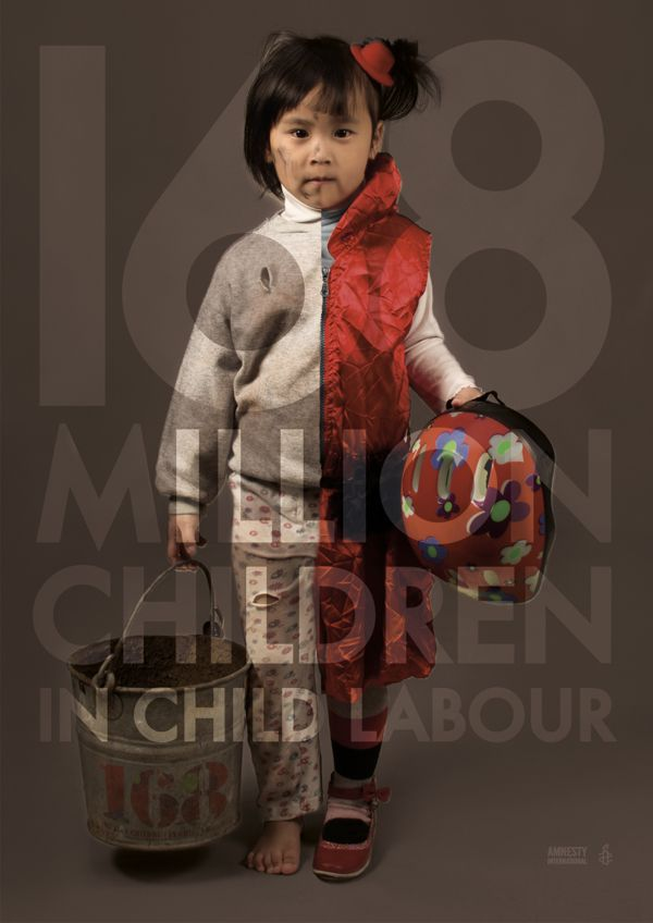 Human Rights Poster  168 Million children in child Labour by Lauren Bolger, via Behance