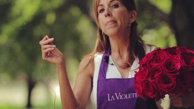 E 5  Como hacer un ramo de novia LA VIOLETERA florería y escuela de dise...