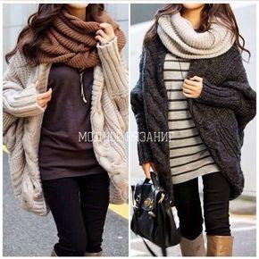 Кардиган свободного кроя - *Baggy sweater* - Модное вязание