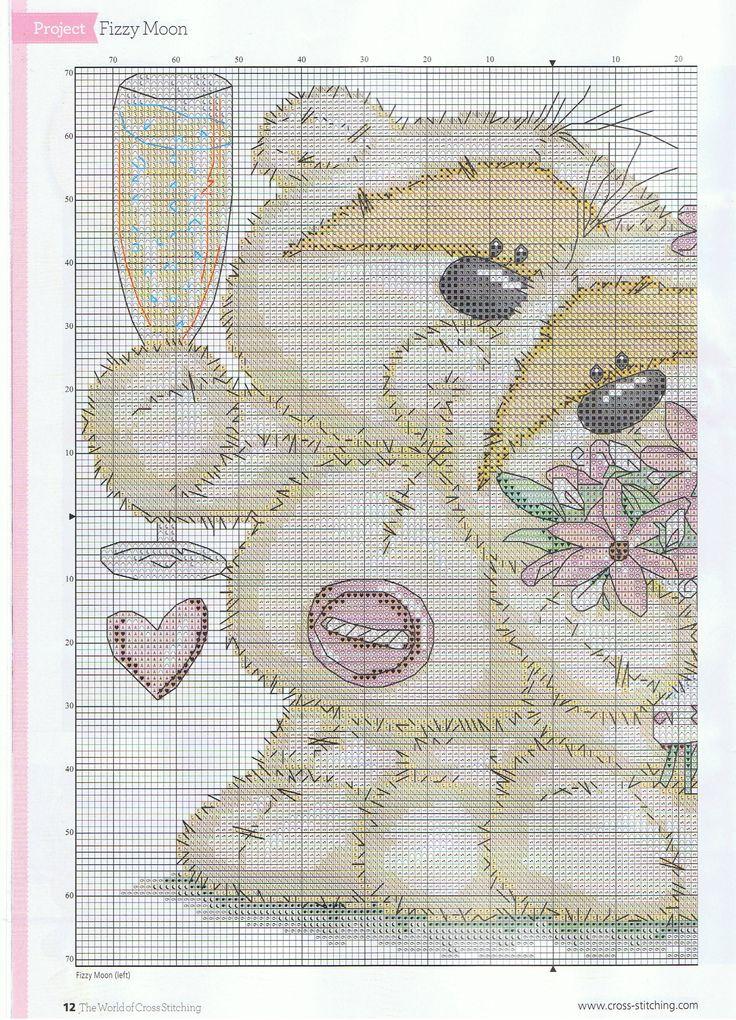 Fizzy moon bear cross stitch #embroidery