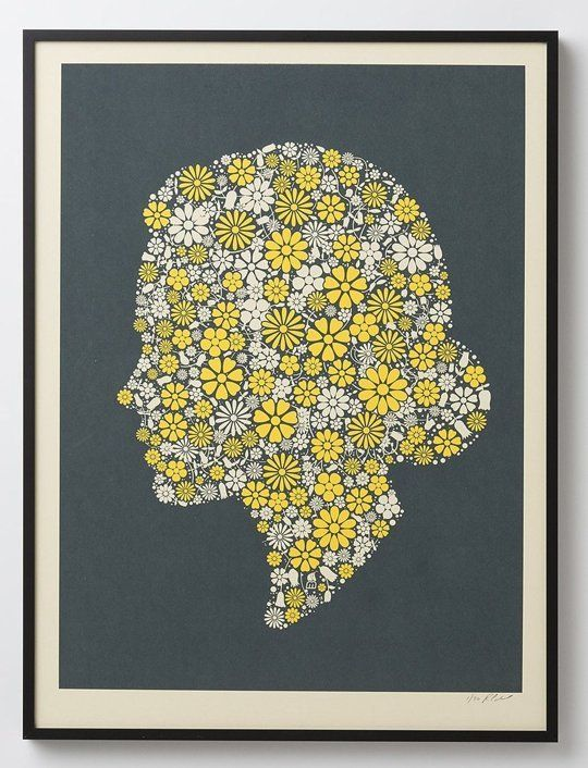 Flowering Confetti Silhouette (Hers) by Methane Studios — On The Wall