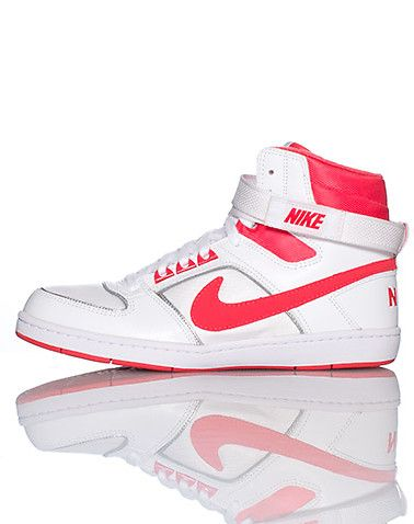 NIKE High top women's sneaker Lace up closure with single velcro strap on upper Padded tongue with NIKE logo Cushioned sole for ultimate comfort