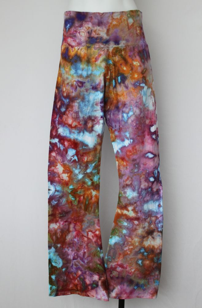Women's XXL Tie Dye Yoga pants ice dye - Carnival crinkle #2 by A Spoonful of Colors Find this item on https://aspoonfulofcolors.com