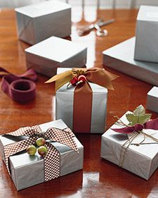 Wrapping the perfect package - Martha Stewart style