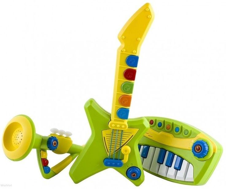 Toddlers Musical Instrument Set Trumpet Guitar Piano Educational Kit Lights Up