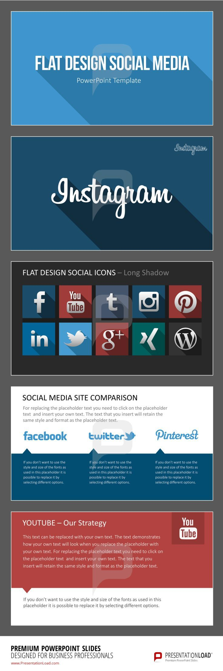 121 best marketing powerpoint templates images on pinterest flat design social media the flat design social media templates for powerpoint include a wide range of social media icons in the modern flat design for alramifo Gallery