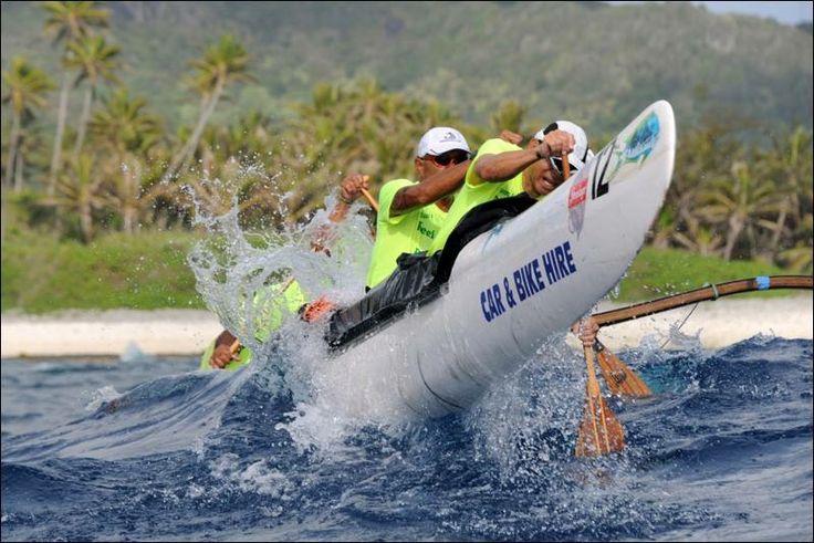 The 2013 Vaka Eiva Outrigger Canoe Race in Rarotonga, Cook Islands.