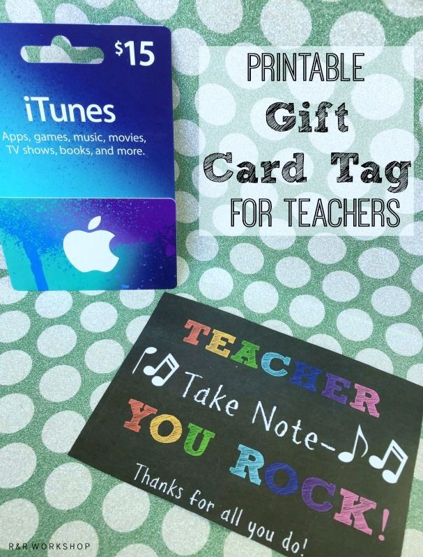 R & R Workshop: Teacher Take Note- You Rock Printable Tag and Gift Ideas