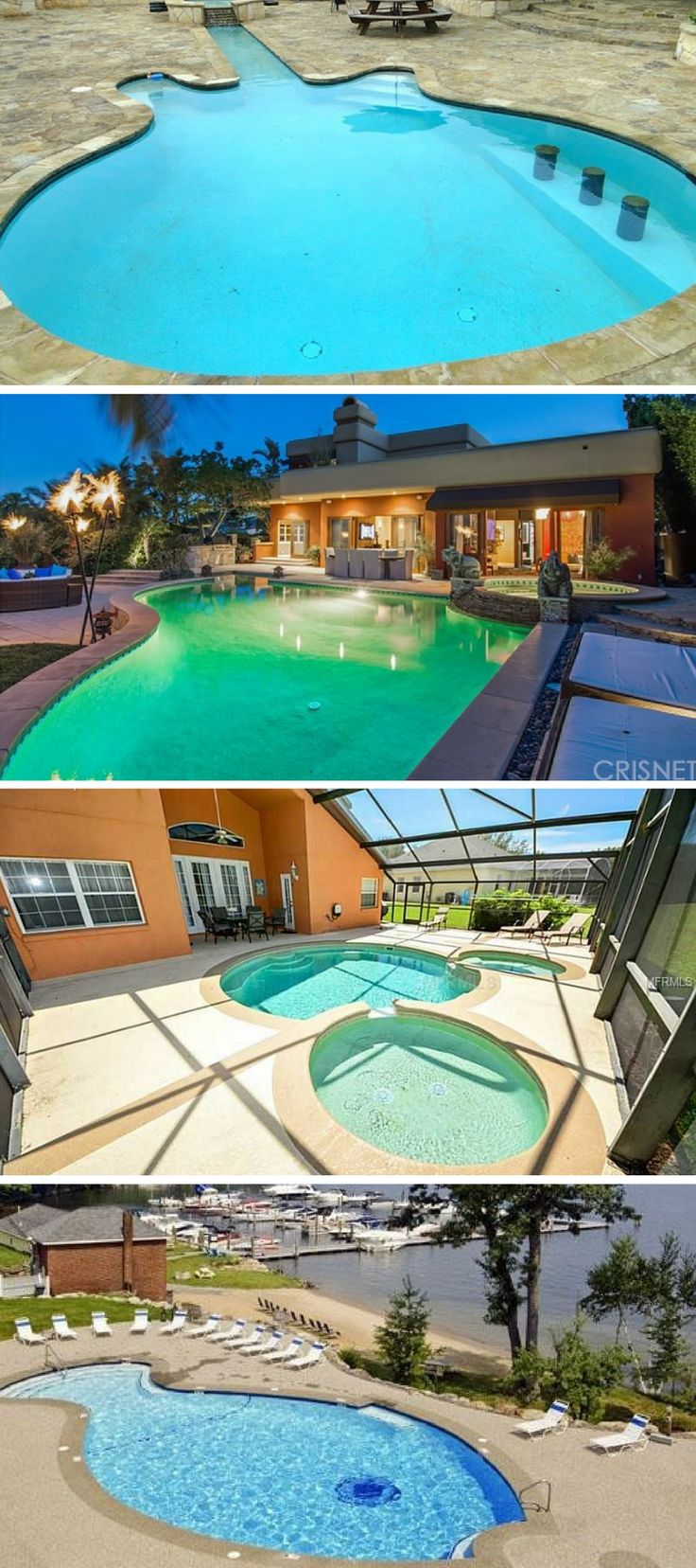 262 best Pools images on Pinterest | Real estates, Beautiful homes ...