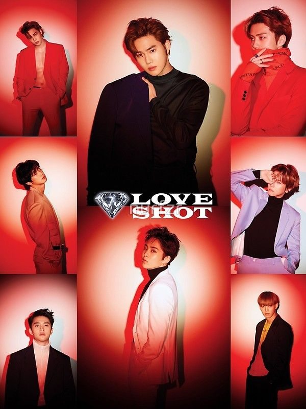 EXO Love Shot  Poster in 2019  EXO  Exo Tao exo Exo album