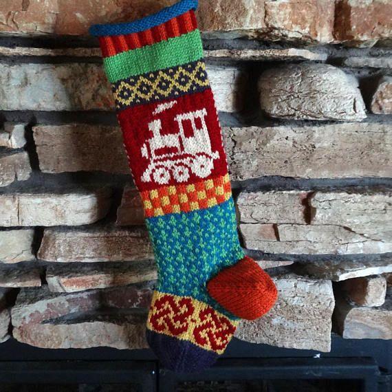 Christmas Stocking Knit Christmas Stockings Personalized