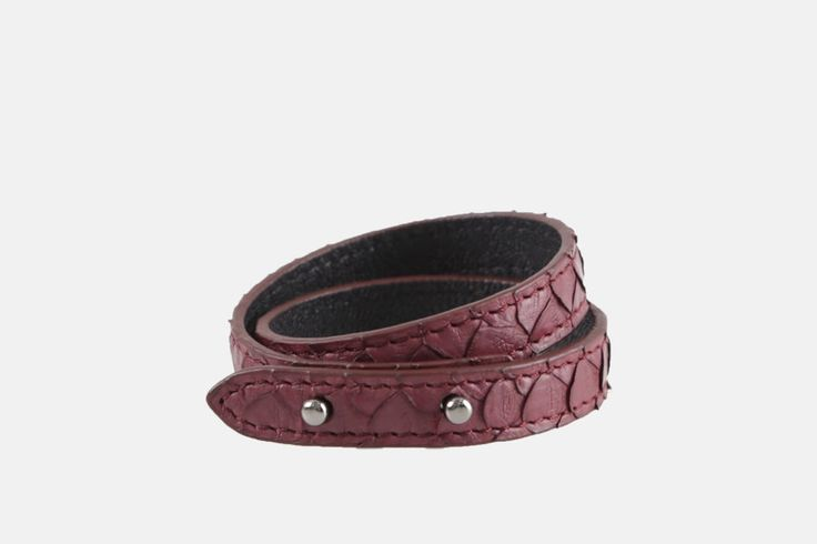 A personal favorite from my Etsy shop https://www.etsy.com/listing/254755763/python-leather-double-wrap-bracelet