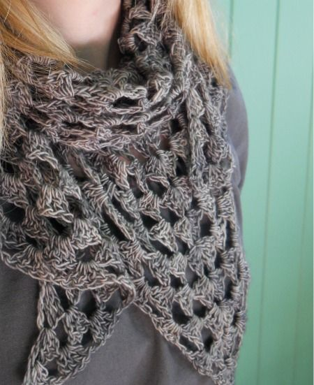quarter granny triangle scarf