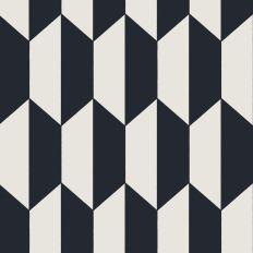Papier peint - Cole and Son - TILE - Noir et Blanc
