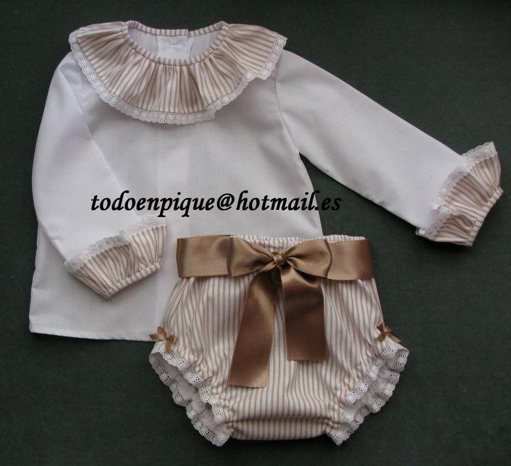 camisa para bebé y cubrepañal con lazo. En la tienda on line http://todoenpiqueparabebe.com/