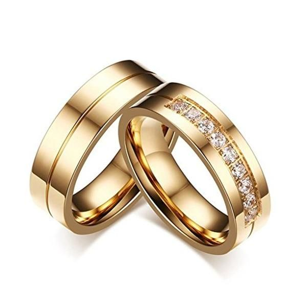 Cheap Rings For Women Buy Quality Couple Directly From China Ring Suppliers AAA Cubic Zirconia Gold Color Man